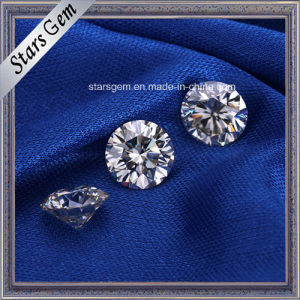 Pure White Color 1 Carat H&a Cut Synthetic Diamond Loose Moissanite for Jewelry Rings pictures & photos