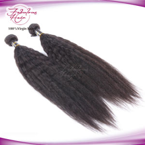 8A Kinky Straight Brazilian Human Hair Bundles Brazilian Yaki Straight Hair pictures & photos