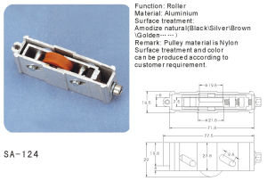 Nylon Roller/Pulley for Window and Door/ Hardware (SA-124) pictures & photos