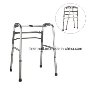 Aluminum Folding Walking Frame with Wheels pictures & photos