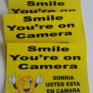 Yellow Smile Face Reflective Decal Stickers Digital Printing for Signs pictures & photos