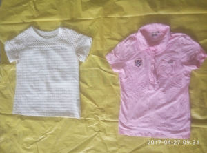 Cheap Price Small Bales Ladies Short Sleeve T Shirt Used Clothes Used Clothing Cream pictures & photos