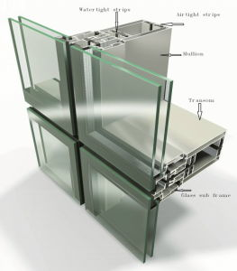 Aluminium Unit System Curtain Wall Glass Wall pictures & photos