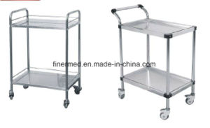 Durable Hospital Stainless Steel Surgical Instrument Trolley pictures & photos