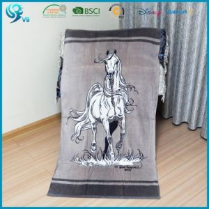 100% Cotton Velour Custom Animal Horse Design Beach Towel Print pictures & photos