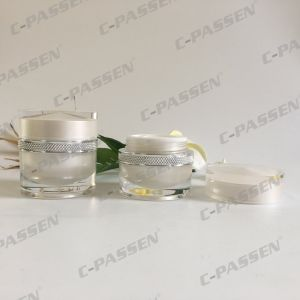 50g Pearl White Acrylic Cream Jar for Cosmetic Packaging (PPC-ACJ-115) pictures & photos