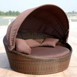 Outdoor Beach Wicker Garden Hotel Furniture Patio Rattan Daybed pictures & photos