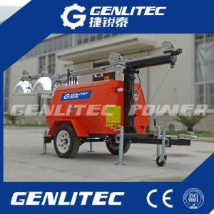 Kubota/with Perkins Engine Mobile Light Tower with 4*1000W Lights pictures & photos