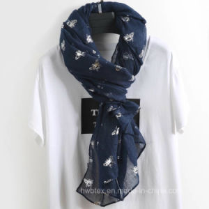 Top Quality Butterfly Hot Stamping Stole / Fashion Scarf (HWBLC87) pictures & photos