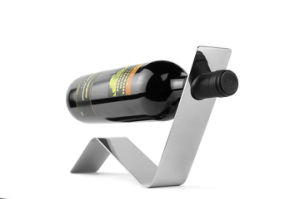 Unique Shape Stainless Steel Single Bottle Wine Bottle Holders pictures & photos