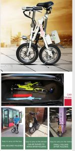 16 Inch High Speed Lithium Battery Electric Bicycle pictures & photos