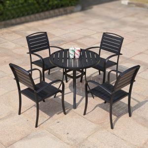 Patio Outdoor Garden Home Hotel Office Restaurant Polywood Table and Arm Chair (J812) pictures & photos