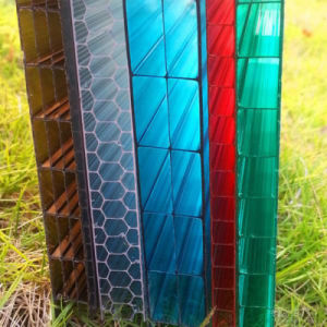 6mm Plastic Roofing Panels Polycarbonate Hollow Sheets for Greenhouse Sale pictures & photos