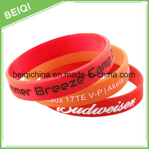 Promotional Cheap Custom Silicone Charm Bracelet pictures & photos