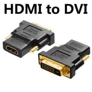 Gold Plated DVI to HDMI Adapter HDMI to DVI-D 24+1 Pin Adapter for DVD HDTV xBox Projector pictures & photos