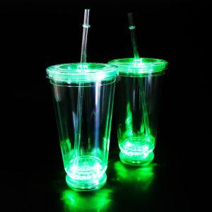 Plastic Straw Mug Plastic LED Mug Travel Tumbler Juice Tumbler pictures & photos