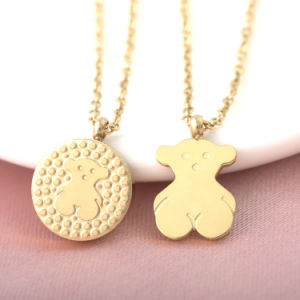 New Fashion Jewelry Mommy Baby Bear Stainless Steel Necklace Pendant pictures & photos