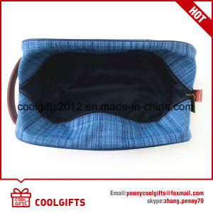 New Custom Oxford and Polyester Cosmetic Bag with PU Handle pictures & photos