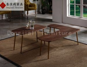 Morden Coffee Table with Wooden Top pictures & photos