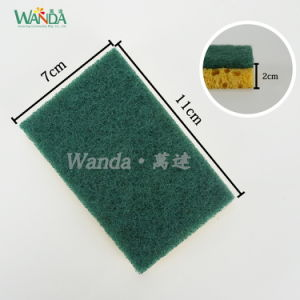 Cellulose Sponge Scourer Kitchen Cleaning Sponge with Heavy-Duty Scouring Pad pictures & photos