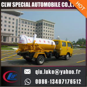 Dongfeng Mini Vacuum Septic Tank Truck 1.7 Tons Vacuum Sewage Suction Truck for Sales pictures & photos