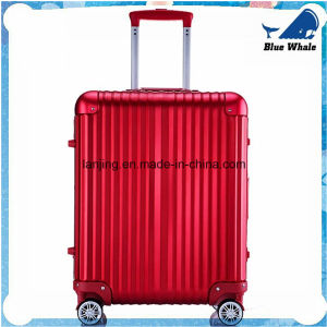 Bw249 2016 New Style Red Aluminum Frame Trolley Luggage pictures & photos