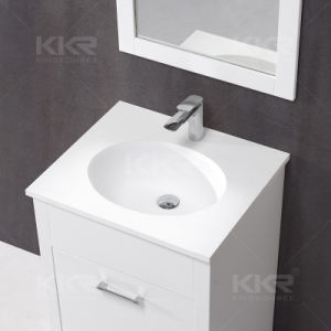 Modern Furniture Solid Surface Bathroom Cabinet Wash Basin (B170418) pictures & photos