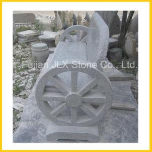 Wholesale Light Grey Granite Stone Garden Bench pictures & photos