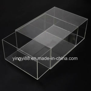 Custom Size Acrylic Shoe Box with Drawer pictures & photos