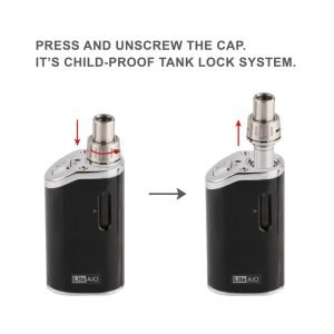 Innovative 1300mAh Child Proof E Cigarette Jomo Lite Aio 40W Vaporizer with Adjustable Wattage 20W~40W pictures & photos