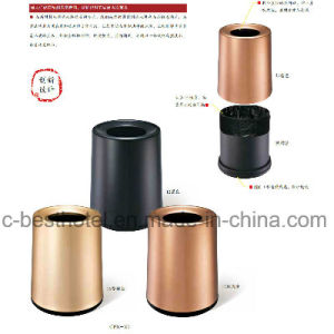 Newly Design Hotel Lobby Stainless Steel Recycling Foot Pedal Trash Bin for Wholesale pictures & photos
