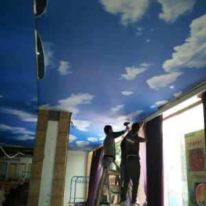 High Quality Cloud and Glossy Stretch Ceiling Film Printing pictures & photos