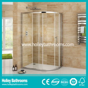 Sector Shower Sliding Box with Aluminium Alloy Frame and Tempered Glass (SE913C) pictures & photos