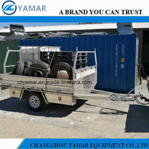 8X6 Single Axle Flat Top Trailer pictures & photos