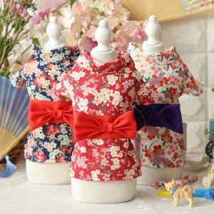 Design Flower Bowtie Dog Kimono Dress Cute Pet Clothes pictures & photos
