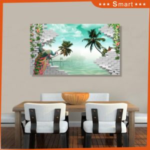Blue Sky and Coconut Tree Design UV Printed on Wall Panel for Decorating Home pictures & photos