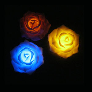 Multicolor Home Decorated Floating Artificial Battery Operated Plastic LED Peony Flowers for Church pictures & photos