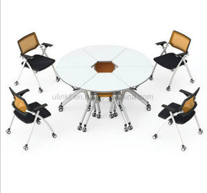 China Conference Office Furniture Melamine Round Meeting Table (HX-NCD403) pictures & photos