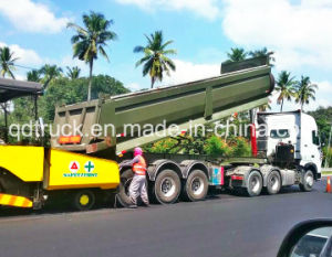 Vietnam popular 3 axles U shape dump trailer pictures & photos