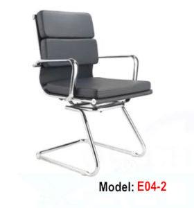 Office Genuine Leather Hotel Metal Meeting Chair (E04-2) pictures & photos