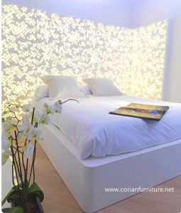 Acrylic Solid Surface Corian Bed pictures & photos
