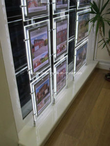 LED Crystal Light Pocket Kits for Estate Agent Hanging Display System pictures & photos