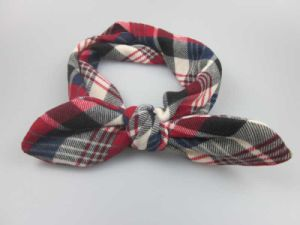 Bow Tie Headband with Checked Pattern Fabric for Ladies Hairband pictures & photos