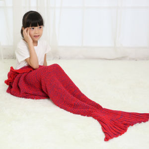 2016 New Hot Children Yarn Knitted Mermaid Tail Blanket Handmade pictures & photos