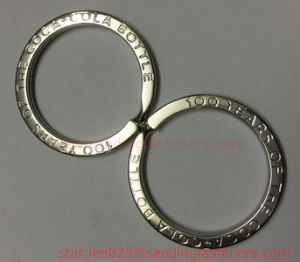 Custom Engrave Brand Logo Stainless Steel Key Chain Rings pictures & photos