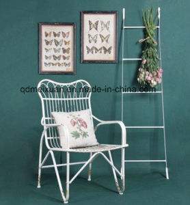 New Product, Wrought Iron American Retro Do Old Single Chair, White Metal Waiting Lounge Chair Chair in The Park (M-X3679) pictures & photos