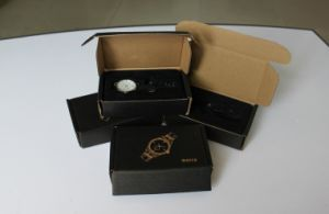 Customize Corrugated Watch Box with Plastic Insert /Customize Logo Corrugated Box pictures & photos