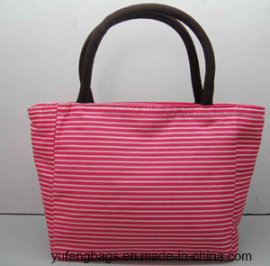 Waterproof Canvas Cooler Bag Fashion Cotton Stripe Bag Yf-CB1640 pictures & photos