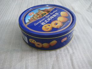 Circular Tin Can Box for Snack Candy Cookie Packaging pictures & photos