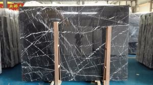 Black Marquina Marble Slabs Tiles pictures & photos